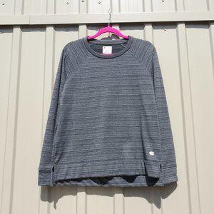 Champion Grey Striped Crewneck Sweater